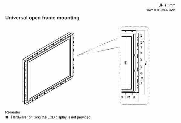 Open-Frame Panel PC Mounting