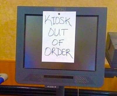 Broken Tablet Kiosk