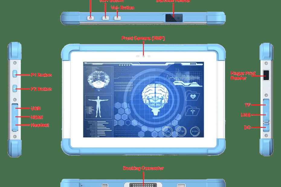 MJ-80 Medical Grade Android Tablet