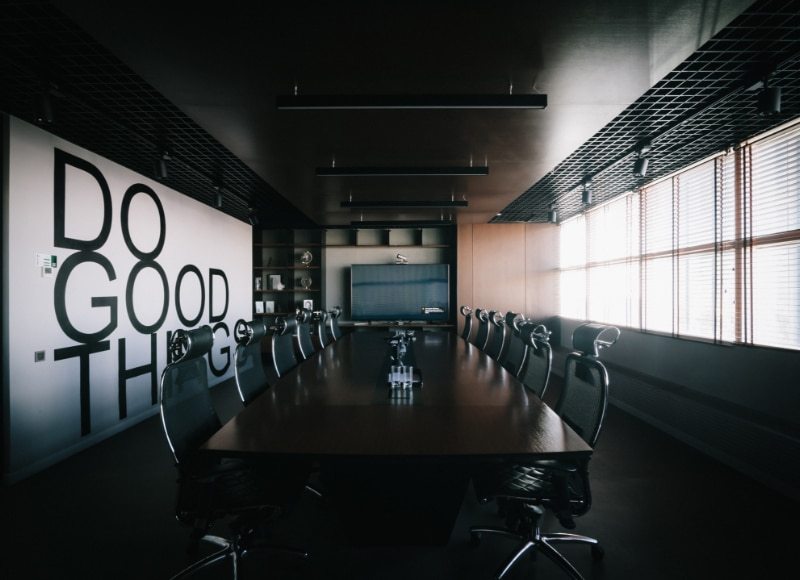 Conference Room with Do Good Things on the Wall