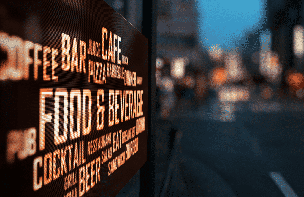 Powered digital sign for display and advertising