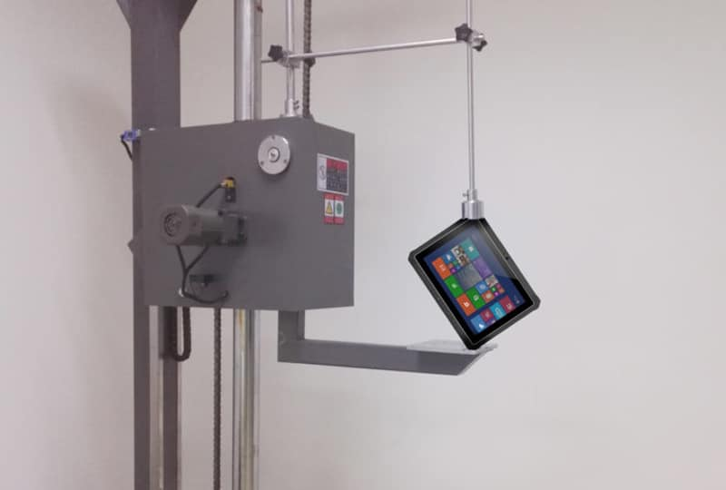 Equipment Being Used to Test Drop, Shock, Vibration, and Tumbling Durability on Rugged UR-100