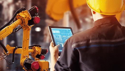 Tablet Controlling Robotic Arm