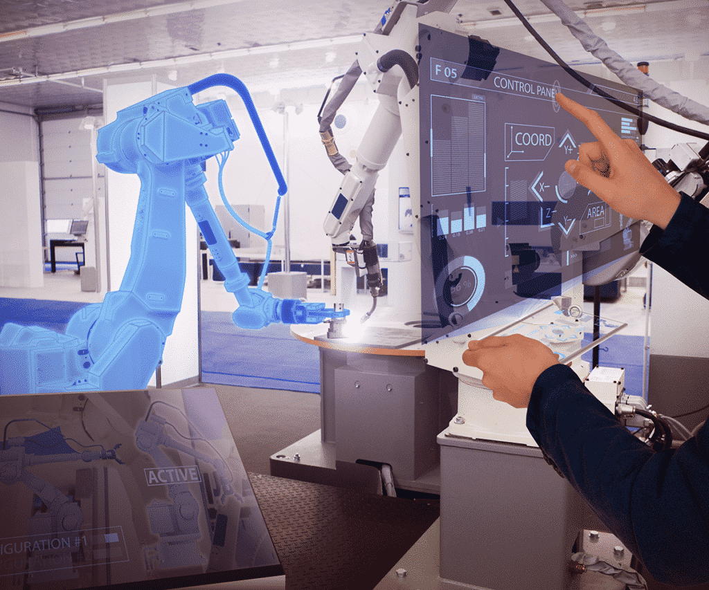 Touch screen robotic arm controls