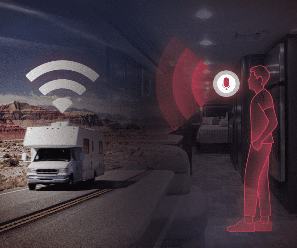 RV equipped with WiFi and voice activated controls