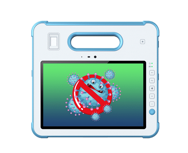 White MD-100M rugged medical grade tablet pc antimicrobial housing