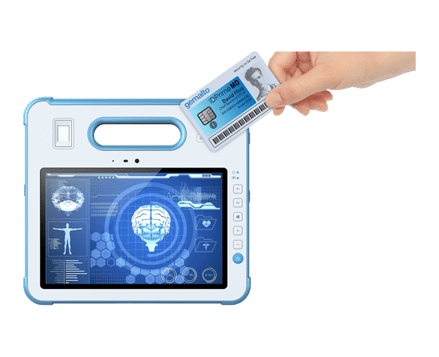 Medical Tablet with RFID Security Card Reader