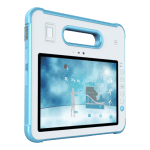 MD-100M White 10 Inch Rugged Medical Grade Tablet IP65 Windows Barcode Scanner RFID NFC Smart Card CAC