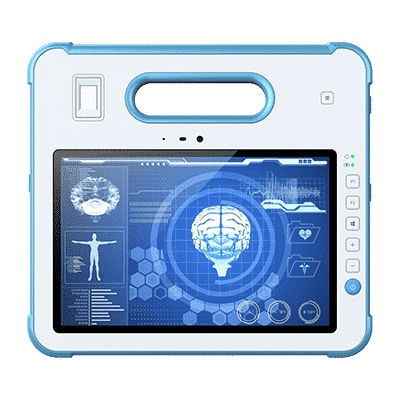White MD-100M rugged medical grade tablet pc front view