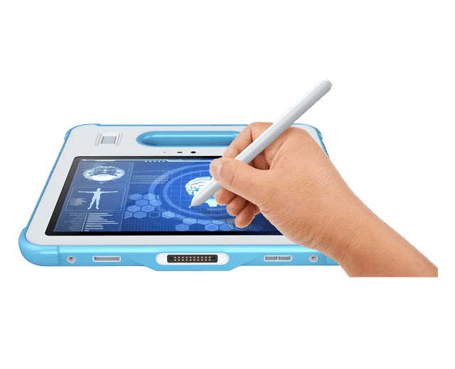 White MD100-M rugged medical grade tablet pc with stylus