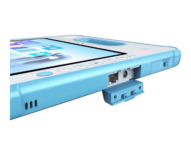 Waterproof tablet with Sealed I/O Ports
