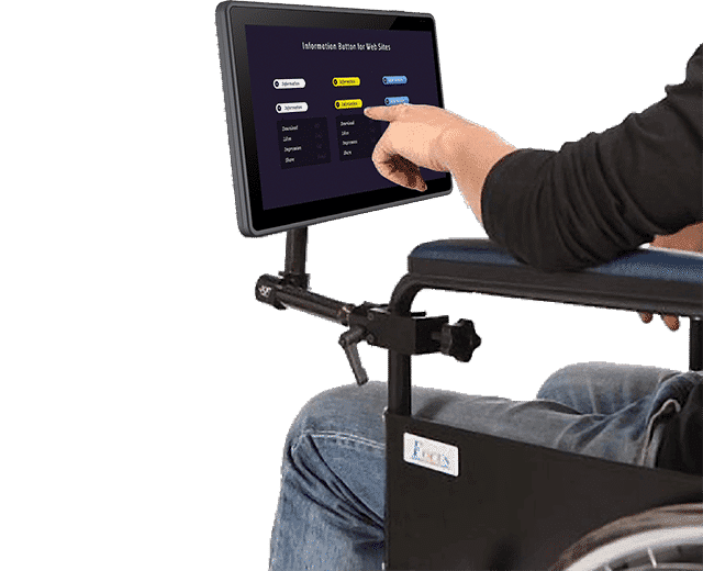 Tablet with Medical Cart Mounting