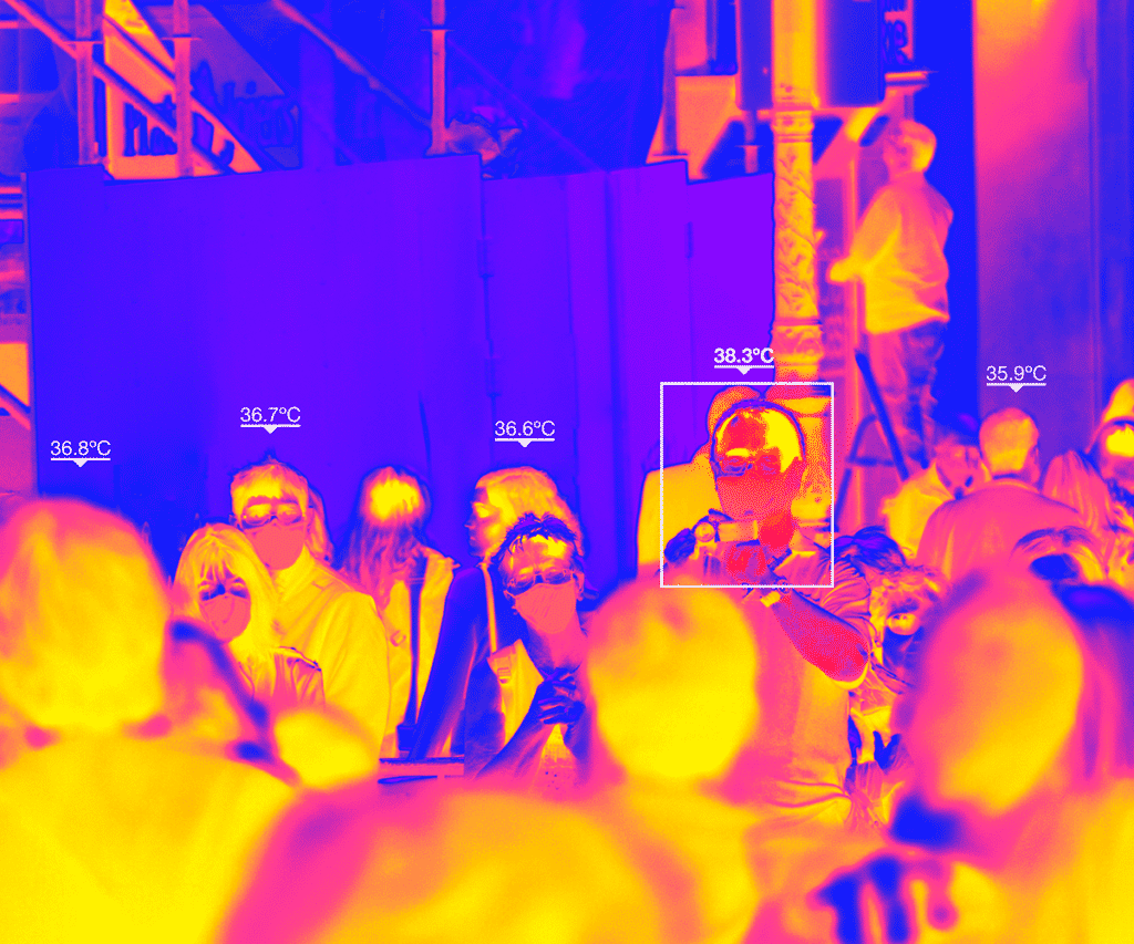 Thermal imaging and targeting of multiple people at a time