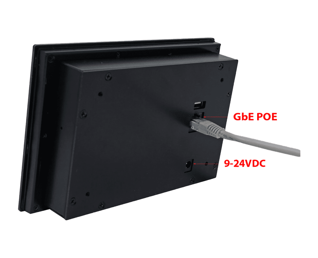 Drop-In Wall-Mount Frameless Panel PC - GbE POE or 9-24VDC