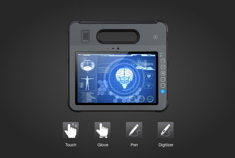 MD-100 touch screen that can be interacted with touch, glove, stylus and digitizer