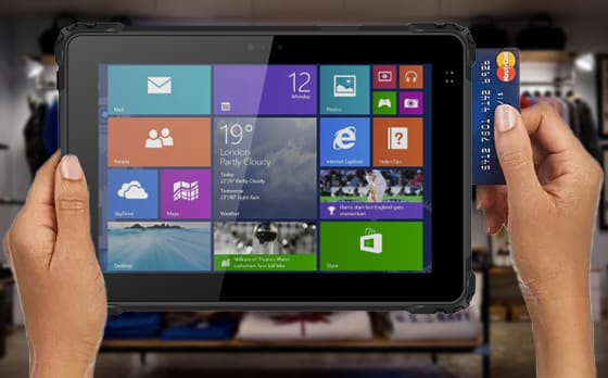 magnetic stripe reader integrated into a rugged tablet pc
