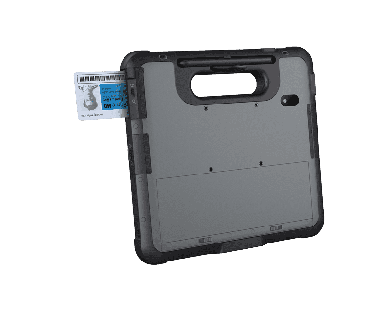 Rugged tablet pc with integrated smart card reader