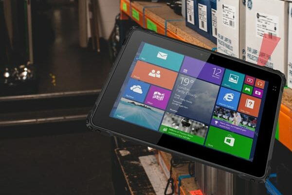 barcode reader integrated into a rugged tablet pc