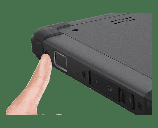 Fingerprint reader scanner integrated into the MJ-80 rugged tablet pc windows