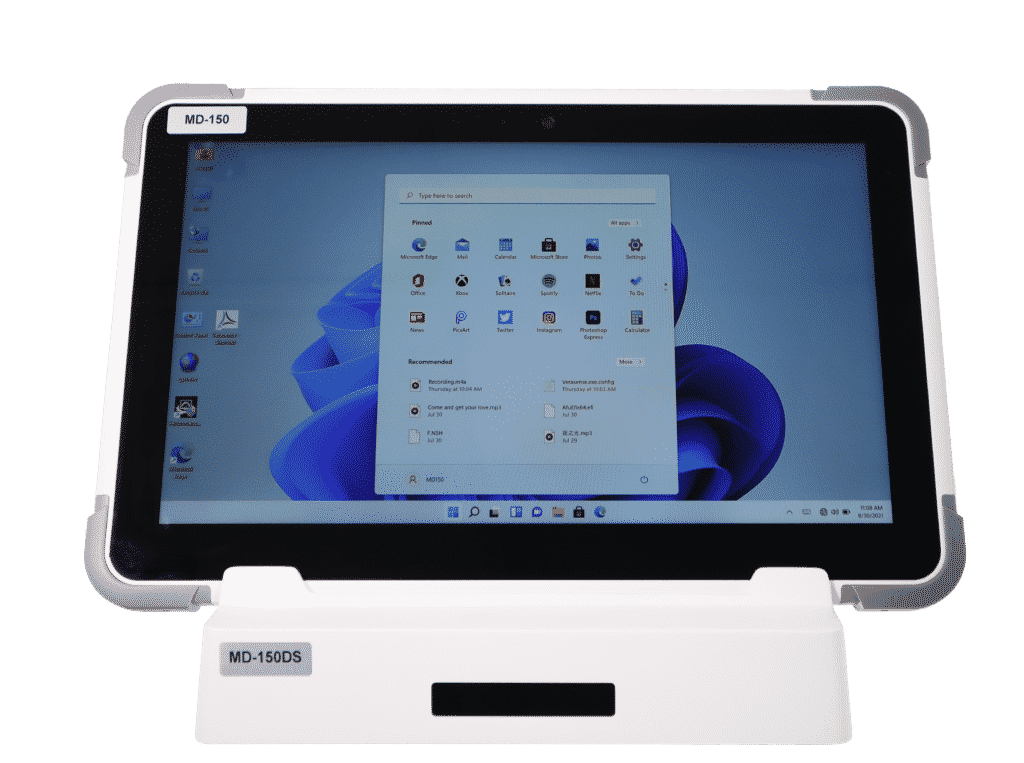 mobile healthcare solutions tablet on docking station for mobility