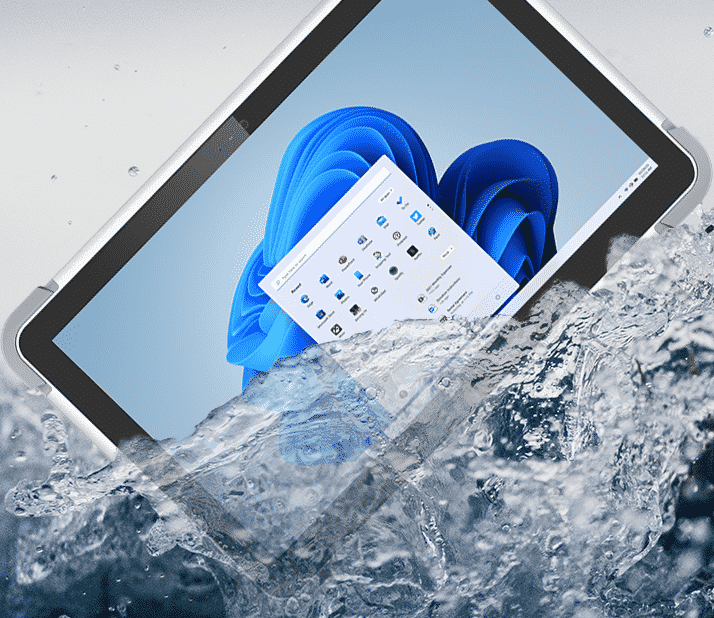 rugged medical tablet for healthcare with waterproof and drop proof chassis