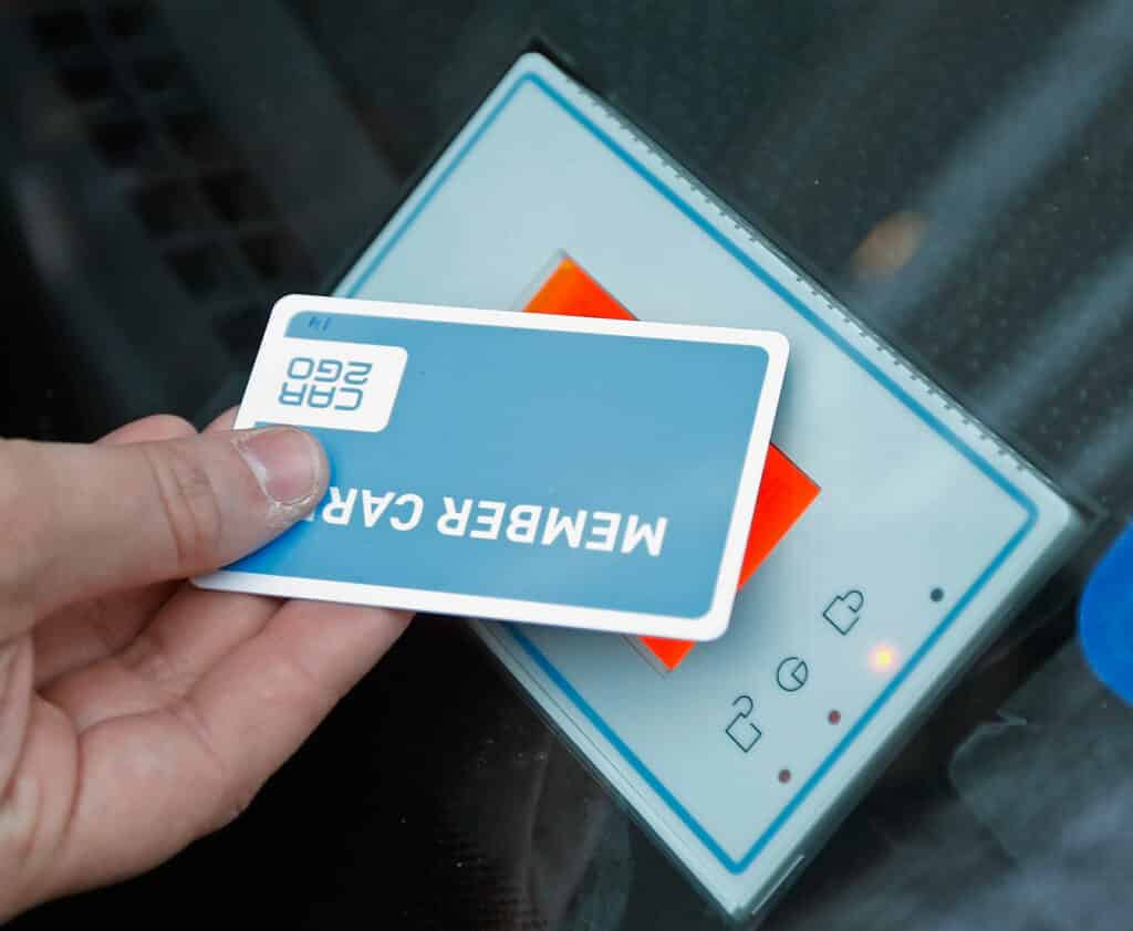 Contactless Smart Card used for a membership for keyless entry